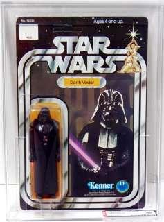 Star Wars Kenner Darth Vader 12 C Back AFA 85 Unpunched