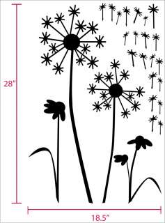 Dandelion Flower   Wall Decal   Deco Art Sticker Mural