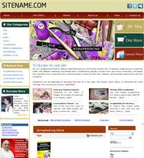 Money Making Scrap Book  Affiliate Guide Website for sale