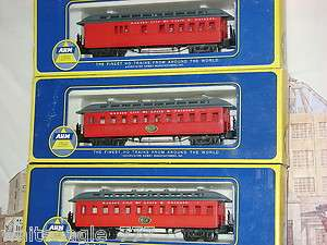AHM/RIVAROSSI KC St L & C Old Time STEAM PASSENGER CAR SET HO Scale