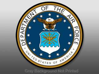 Department of Air Force Seal Sticker   decal logo USAF