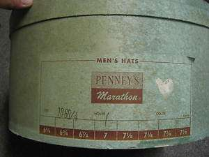Vintage Light Green Penneys Hat Box only good decor