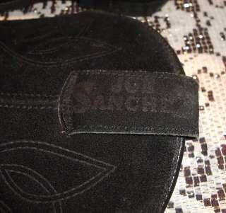 Vintage 70s 50s style Joe Sanchez Black Suede Western Cowboy Boots 6.5
