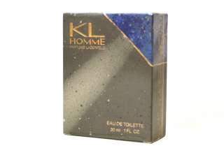 New KL HOMME Cologne for Men EDT SPLASH 1.0 oz / 30 mL