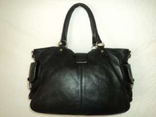 Michael Kors Riley Large Satchel Black Leather Handbag 30S11RLS3L $448