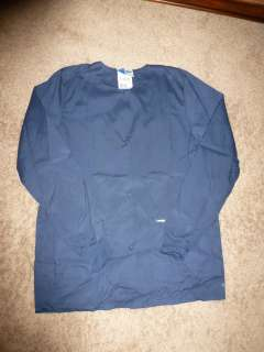 NEW Nursing scrub Nurse uniform JACKET size S NAVY BLUE LANDAU Sm