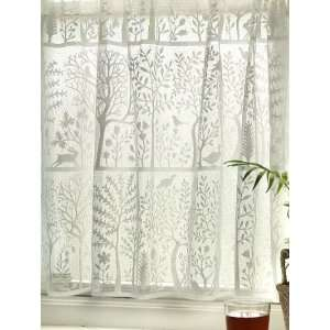Rabbit Hollow Tree of Life Lace Curtains:  Home & Kitchen