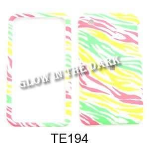 Apple iPhone 3G/3GS Glow in the Dark, Colorful Zebra Print