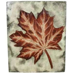VCS FMS Square Wall Plaque with an Autumn Maple Leaf Motif