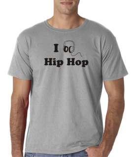 Mens I Listen Love Hip Hop Music T Shirt Tee Headphones