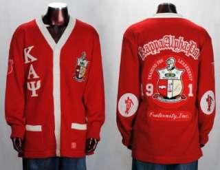 Kappa Alpha Psi Red Long Sleeve Cardigan sweater S 5XL