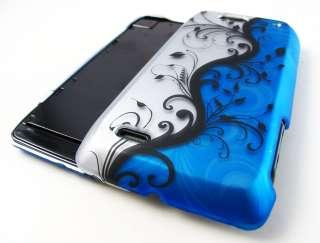 OCEAN BLUE VINES HARD SHELL SNAP ON CASE COVER MOTOROLA DROID 4 PHONE