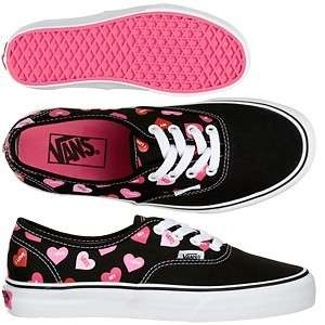 VANS SHOES CANDY HEARTS 9.5 M 11 W CLASSIC AUTHENTIC