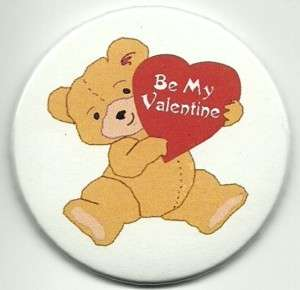 Happy Valentines Day  Bear w/Hearts   Magnet 2 1/4