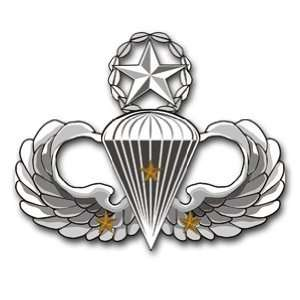 US Army Master 3 Combat Jump Wings Decal Sticker 3.8 6