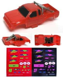 1992 TYCO HO RED NISSAN BANDIT Pickup Pick Up Truck Slot Car BODY ONLY