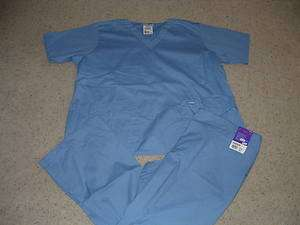 NWT Nursing Nurse uniform Scrub TOP/PANTS SET size 2XL LANDAU NEW CIEL