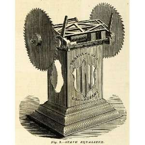 1874 Print Stave Equalizer Machine Antique Barrel Making