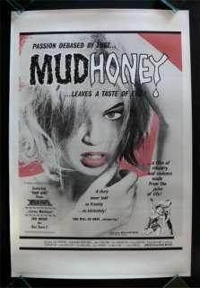 MUD HONEY * 1SH MOVIE POSTER RUSS MEYER 1965 MUDHONEY