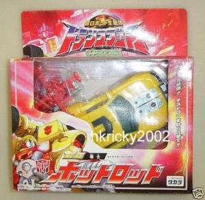 Takara Transformers Armada Micron MC 03 Hot Shot Rod with Jolt Figure