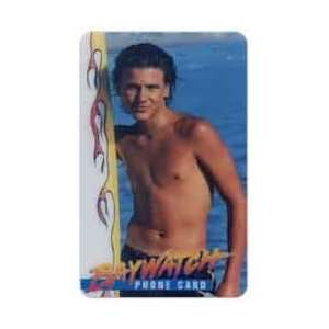 Phone Card 3m Baywatch Male Actor (No Shirt) Posing With Surfboard