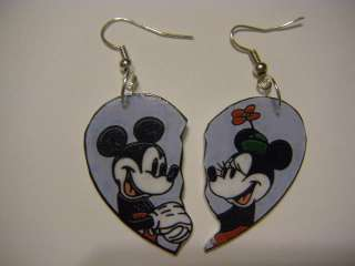 Mickey Minnie Mouse Best friend earrings   disney love