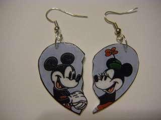 Mickey Minnie Mouse Best friend earrings   disney love