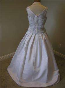 NWOT NEW Mon Cheri Wedding dress Bridal gown Quinceanera white size 12