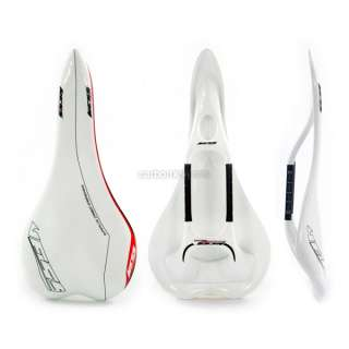 Full Carbon Fiber Road Racing Bike Bicycle Saddle White