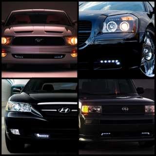 BENZ STYLE DRL LED DAYTIME RUNNING BUMPER FOG LIGHTS CAR/TRUCK/SUV