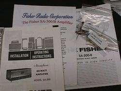 Fisher SA 300 SA 300 B Tube Amplifier Restoration Kit