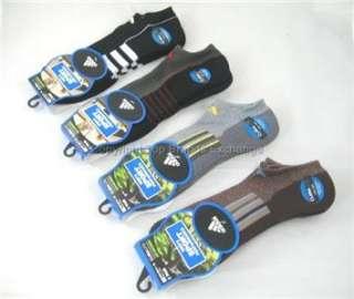 Pair No Show Mens Adidas Climalite Socks Black Gray Brown Tennis