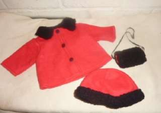 Sophias Red Coat Hat Muff to fit 18   20 Girl Dolls