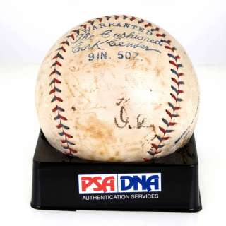 Babe Ruth Lou Gehrig Signed Auto 1933 Baseball PSA DNA