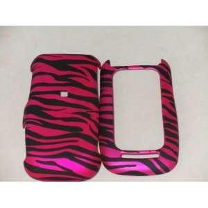 Motorola Barrage V860 Hard Case Pink Zebra Phone Cover Skin Protector