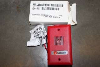 SIMPLEX 2901 9836 RED FIRE ALARM AUDIBLE MINI HORN NIB!