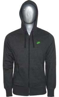 NEW NIKE Full Zip tracksuit FLEECE Jog Jogging Charcoal green Size S M