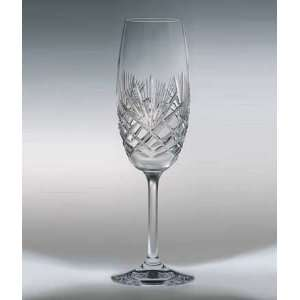 Majestic Crystal Champagne Flutes   Set of 4: Kitchen