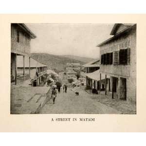 1921 Print Street Scene Cityscape Matadi Congo Africa Port