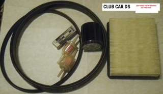 CLUB CAR GOLF CART DS 92+UP TUNE UP KIT & DRIVE & STARTER BELTS FREE