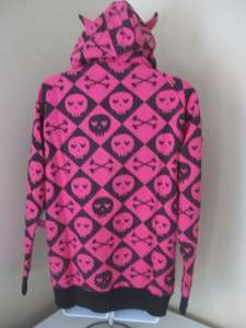 Abbey Dawn Avril Lavigne Aaarrgyle Argyle Hoodie MEDIUM LARGE NWT