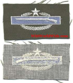 US Occup. Era Cloth 2nd Award Combat Infantry Badge CIB
