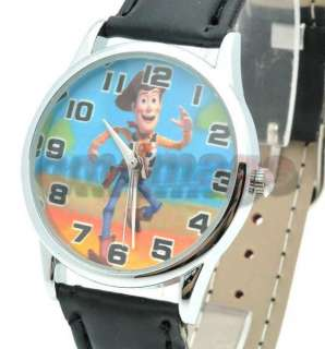 Brand New Disney Toy Story Woody leather Wrist Strap Watch QT1125