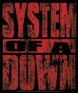 SYSTEM OF A DOWN red scratchy logo STICKER  toxicity