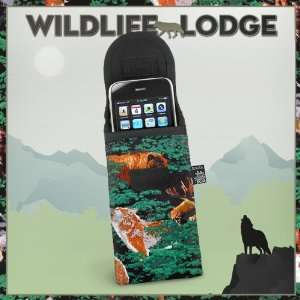 Wolf Bear Deer Phone Case Glasses Holder Wolf Lodge Fits APPLE IPHONE