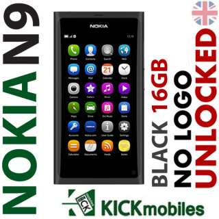 BNIB 16GB NOKIA N9 BLACK FACTORY UNLOCKED NEW OEM GSM Simfree No