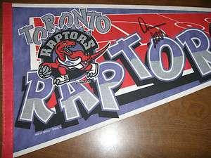 Toronto Raptors Pennant Autographed by DAMON STOUDAMIRE Auto