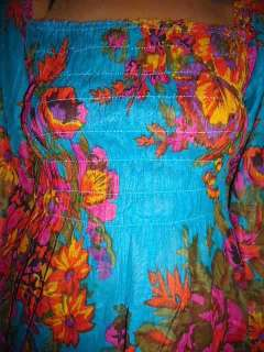 Keywords INDIA COTTON PEASANT TOP BLOUSE SHIRT BLUE BOHO HIPPIE GYPSY