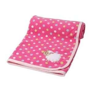 Carters Cuddle Me Pink Polka Dot Sheep Fleece Baby Girl Blanket Baby