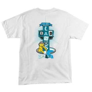 Santa Cruz SALBA BADLANDS Lance Mountain Shirt WHT MED